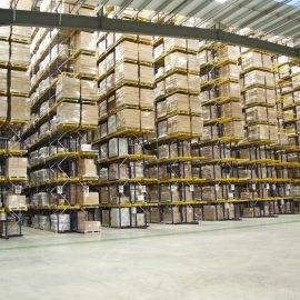 Photo of a large racking system in a warehouse