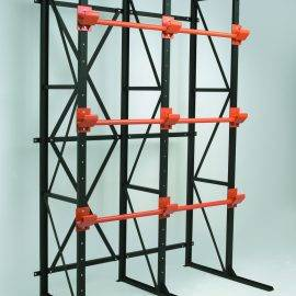 Image shows an empty coil rack