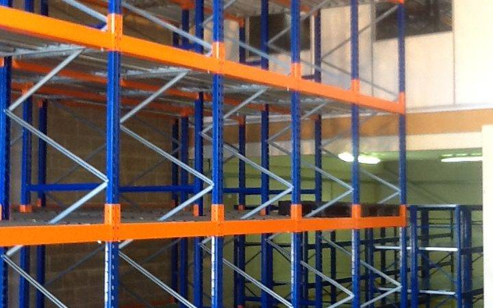 Image of Push Back racking in a warehouse