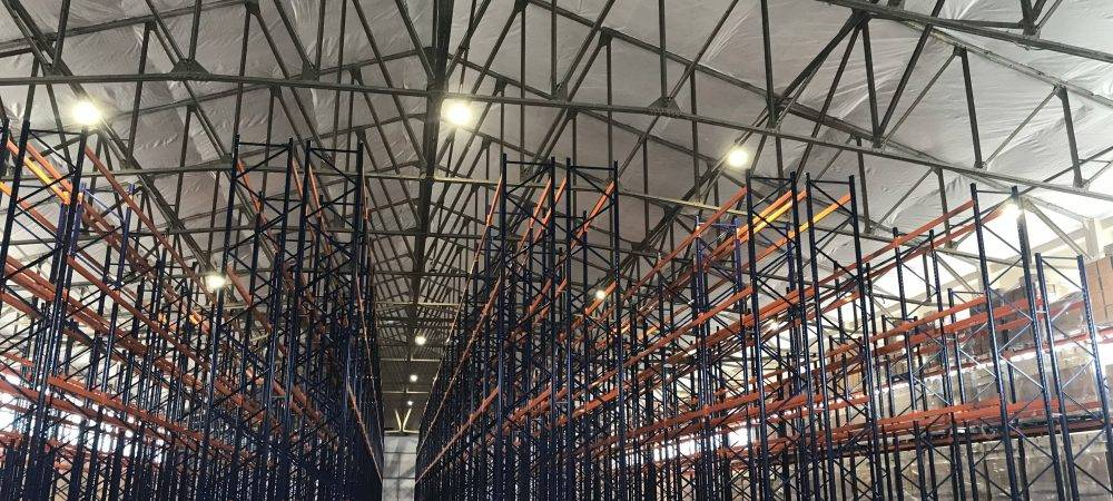 Image of large pallet racking structure