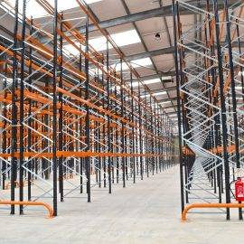 Image of wide aisle racking in a warehouse