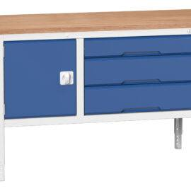 Verso height adjustable storage bench